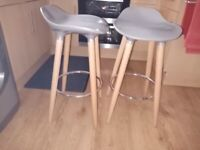Pair of under worktop bar stools