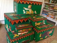 Antique toy chests/boxes