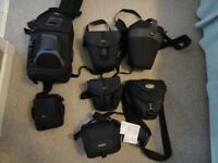 Various camera bags and cases as per pictures, various prices