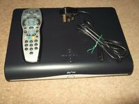 sky hd plus satellite box with remote control and wireless adaptor,