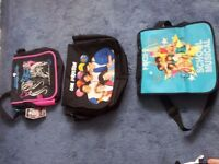 nearly new or new Monster High, One Direction and High School Musical bags