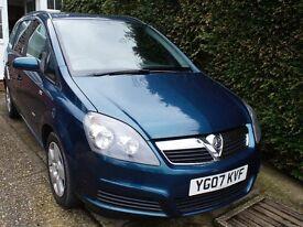Vauxhall Zafira 1.8Club Easytronic Peacock Blue