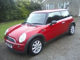 MINI ONE 1-6, 2001 (51 PLATE) BRIGHT RED, 111k MILES, VAST SERVICE HISTORY, NEEDS ATTENTION.