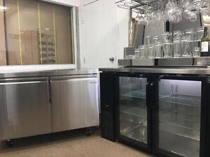 BACK BARS -- UNDERCOUNTER FRIDGES AND FREEZERS<--NOT USED
