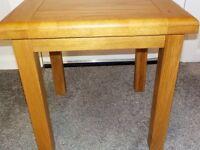 SOLID OAK LAMP-SIDE TABLE H 49CM X D49CM X W49 CM