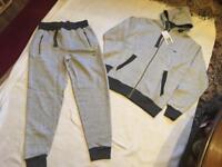 Brand new Lacoste men's tracksuit set slim jogger grey-darkgrey size S new £35