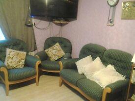 Urgent 2 Seater Sofa & 2 chiars Sale