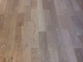 Engineered Oak Flooring Brushed & Oiled Multi-ply 125mm 13/2 x 125 random length (mm)