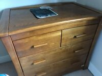 Mamas & Papas Oak Ocean Chest with changing unit