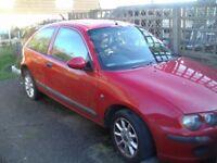 Rover 25 Impression 3 1400 petrol,03 reg,red,2 door hatchback