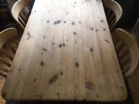 Farmhouse dining table and chairs for sale