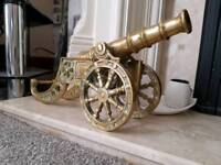 Large Solid brass cannon