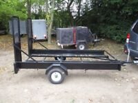 8-2 X 4-2 TRANSPORTER TRAILER WITH RAMPS (UNBRAKED)..........NICE STRONG TRAILER.....