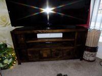 Dark Dakota Solid Wood TV Unit