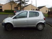 Toyota Yaris 2000 /no Mot /spare parts /good engine /Please offer price