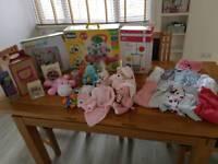 Variety of baby stuff