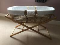 Baby's Moses Basket & Stand