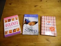 40,0001 Best Baby Names, Teach your child to Sleep, 7000 Baby Names books.