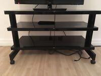 Black TV stand metal and glass £25 ono