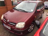 Nissan Almera Tino 2005 starts drives cheap bargain not spares or repairs