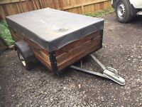 Solid 5' x 3' Car Trailer With Canopy + 2 Spare Wheels - Ideal for camping or small tip runs!