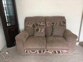 Settee and reclining armchair
