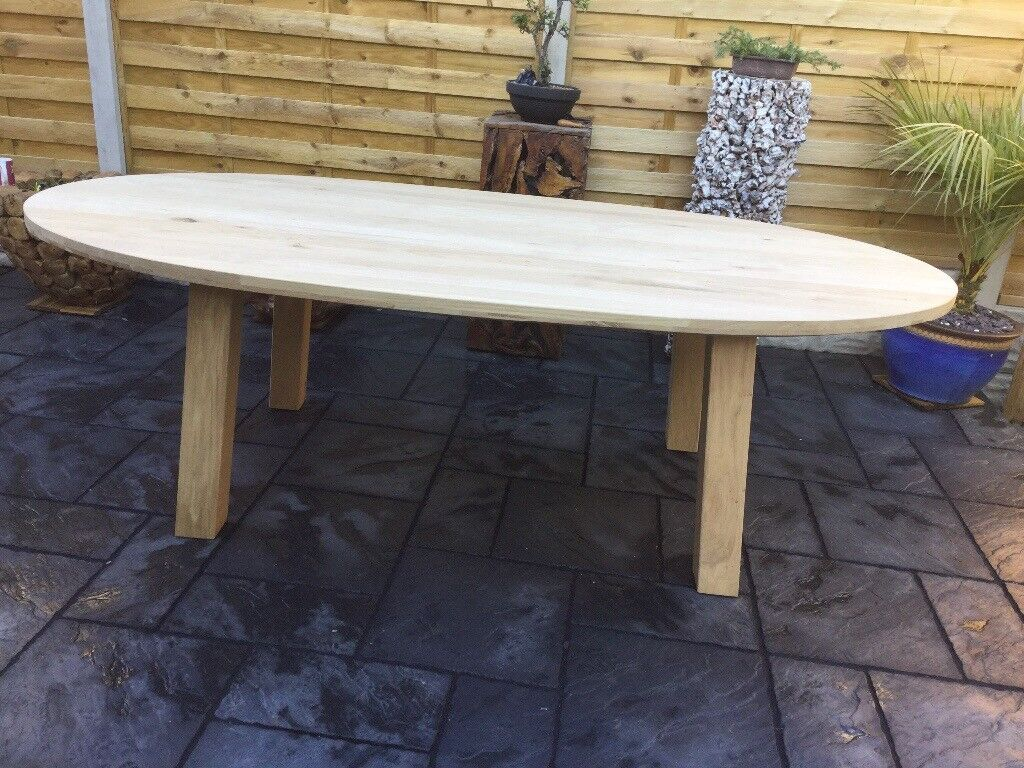 Exceptional Large Solid Heavy Oak Dining Table New Unused
