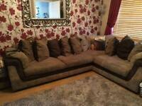 Large Corner Sofa and Foot stool
