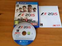 F1 2015 & Watch dogs PS4 MINT!!