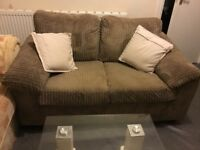 SMALL TWO SEATER CORD SOFA