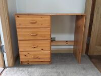 Desk/ dressing table with 4 drawers