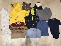 Baby Boy (12-24months) winter clothes bundle including cute hats!