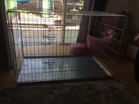 Large dog cage great condition