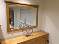 Oak mirror G Plan next day