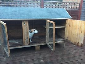 Large rabbit hutch for sale