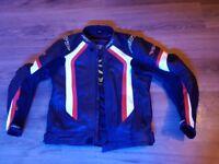 Red and black RST biker jacket