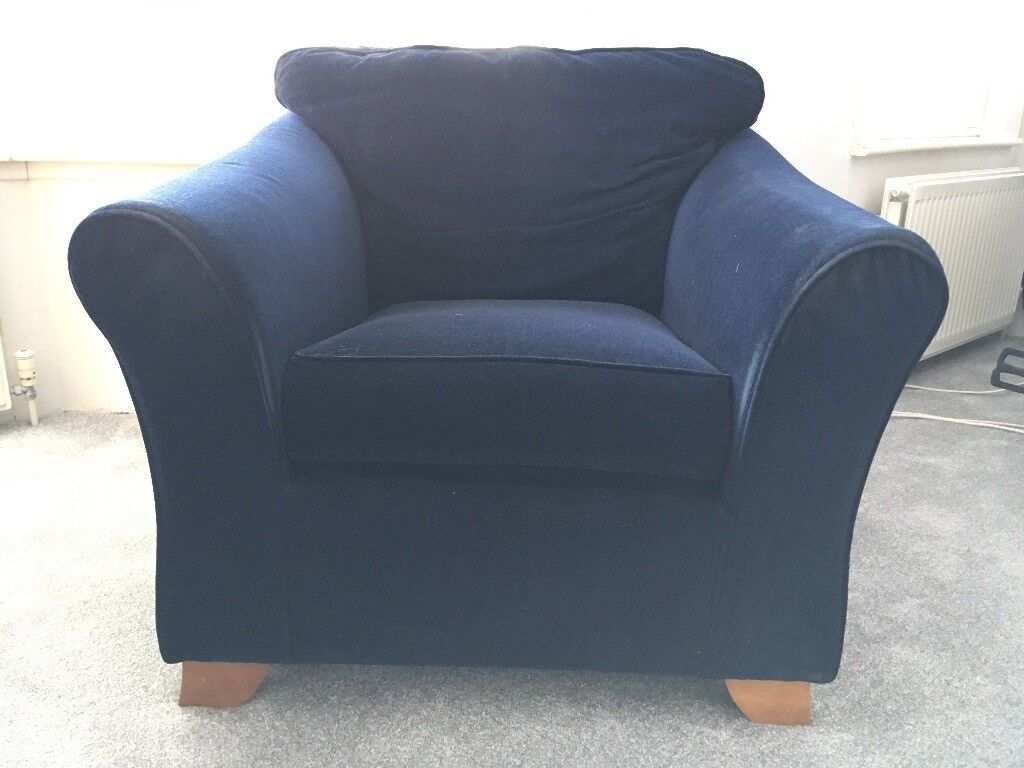 M&S Armchair, Blue | in Worthing, West Sussex | Gumtree