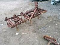 Original David Brown tractor 9tyne cultivator with badge and spare tynes