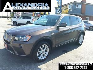 2012 BMW X3 28i LEATHER PANORAMIC ROOF 89km