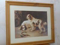 FRAMED DOG PICTURE