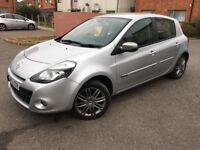 2012 Renault Clio Facelift 1.2 16v Dynamique 5 Drs Petrol Low Mileage Leather Seats Built in Sat Nav