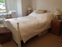 King size bed and matress for quick sale!