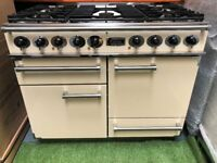 Lovely Falcon 1092 Deluxe range cooker double oven Cream and chrome appliance