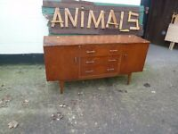 Retro Wood sideboard Shabby Chic Project Delivery Available £15