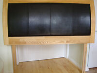 King Size Headboard from smoke free home - Modern Style - Ash and Black