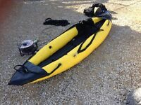 2 X INFLATABLE KAYAKS WITH OARS