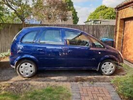 Vauxhall Meriva 1.4 16v Club MPV 5 door, 59 plate (2009), Petrol, Blue