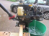 6hp Suzuki Outboard Motor.