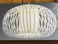 New in Box NEXT AURA Ribbon Pendant Lampshade Light shade easy fit WHITE