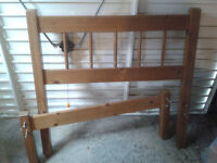 Single pine bed frame. All supports and fixings